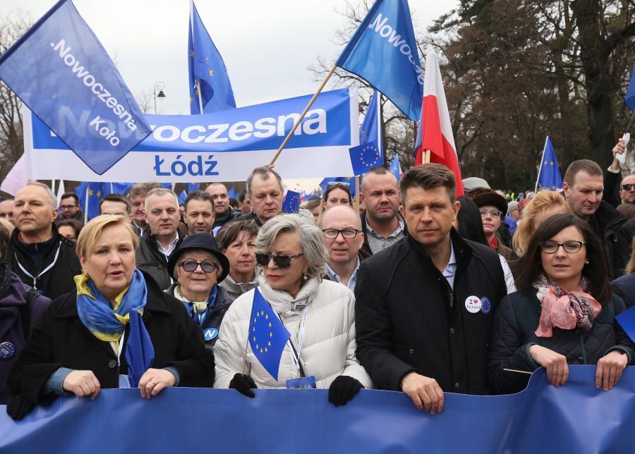 Marsz dla Europy w Warszawie
