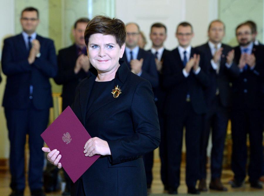 Premier Beata Szydło w Pałacu Prezydenckim 13 listopada 2015 r.