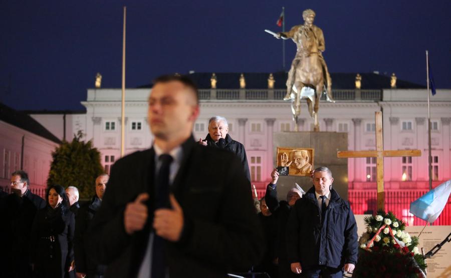 Jarosław Kaczyński na miesięcznicy smoleńskiej