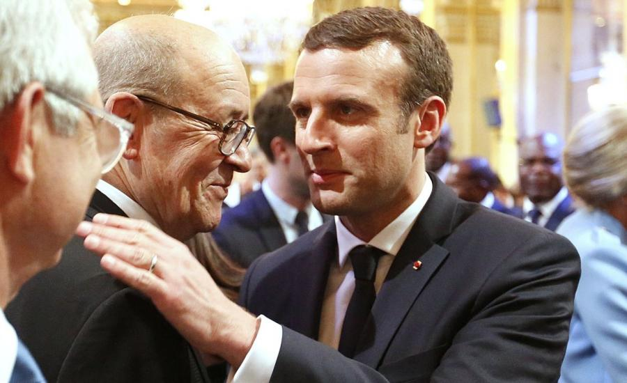 Macron i Jean-Yves Le Drian