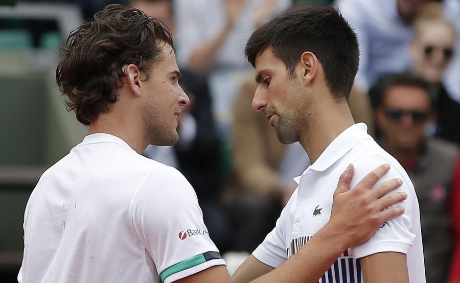 Dominic Thiem i Novak Djokovic