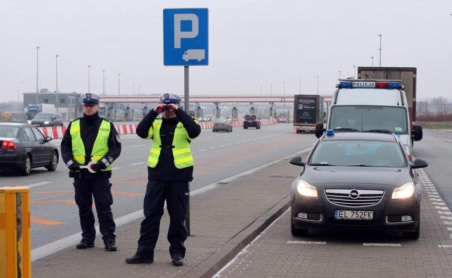Policja na autostradzie A2