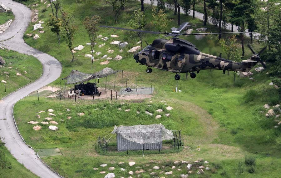 Amerykański śmigłowiec w Korei Południowej