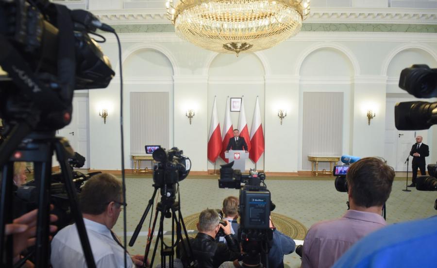 Prezydent Duda ogłasza projekty ustaw