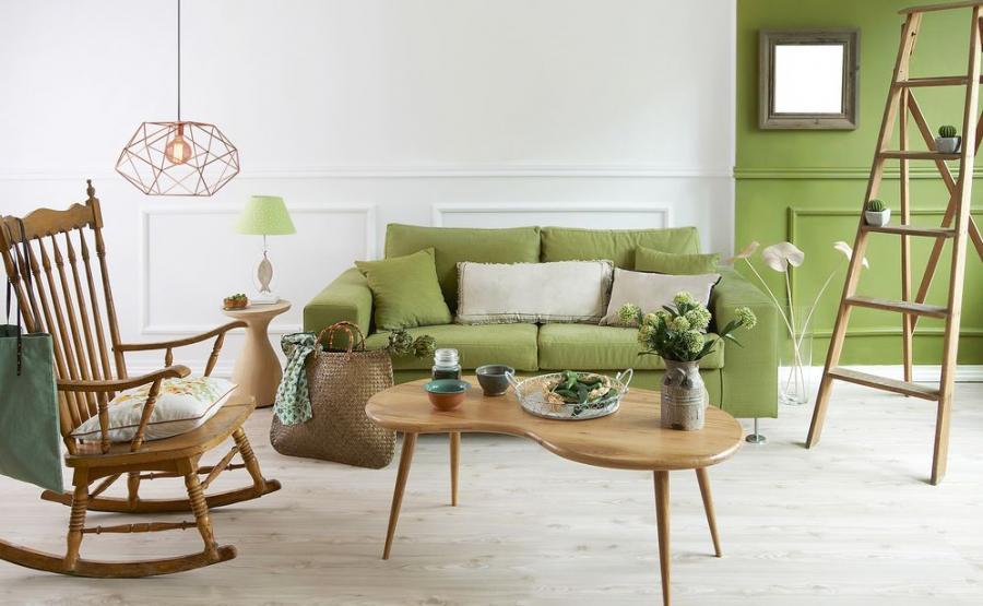 Zielony kolor w mieszkaniu