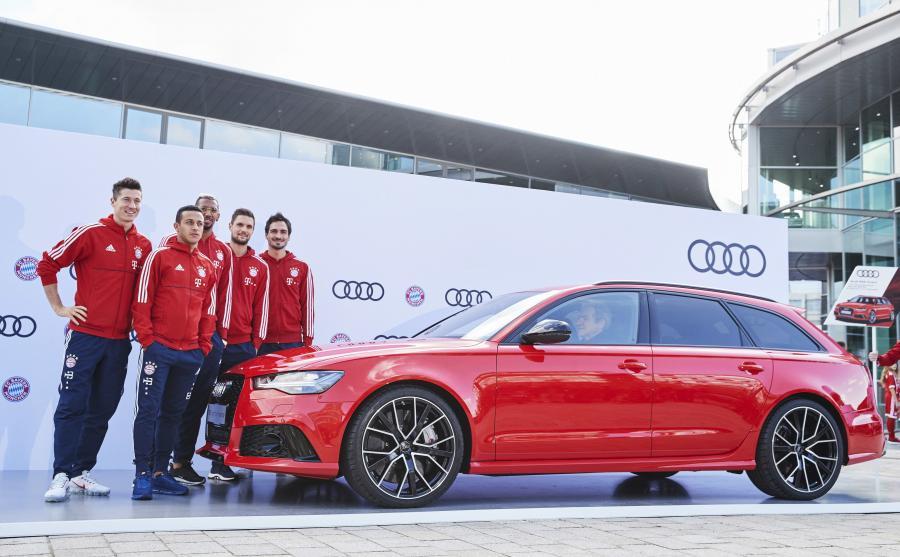 Nowe Audi RS 6 Avant performance wybrali Robert Lewandowski, Thiago Alcantara, Jerome Boateng, Sven Ulreich i Mats Hummels