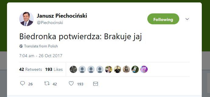 Czego dowiesz się o świecie i życiu, czytając twitty Janusza Piechocińskiego. HITY INTERNETU