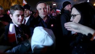 Andrzej Duda w tłumie
