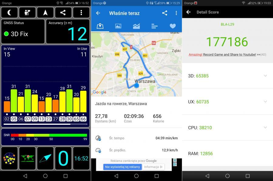Huawei Mate 10 Pro - GPS, AnTuTu Benchmark