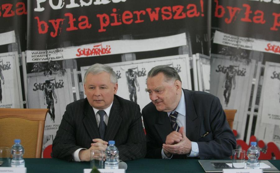 Jarosław Kaczyński i Jan Olszewski