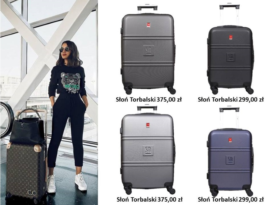 Modne walizki i torby podróżne