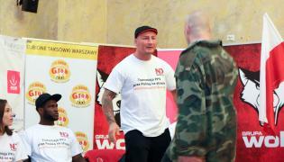 Wymiana zdań między Arturem Szpilką (2P) i Arturem Binkowskim (P) podczas konferencji prasowej przed Narodową Galą Boksu