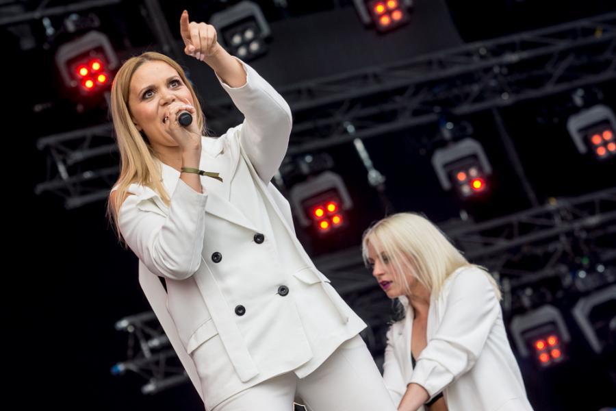 Dominika Gawęda z Blue Cafe na Life Festival Oświęcim. fot. Konrad Kubuśka
