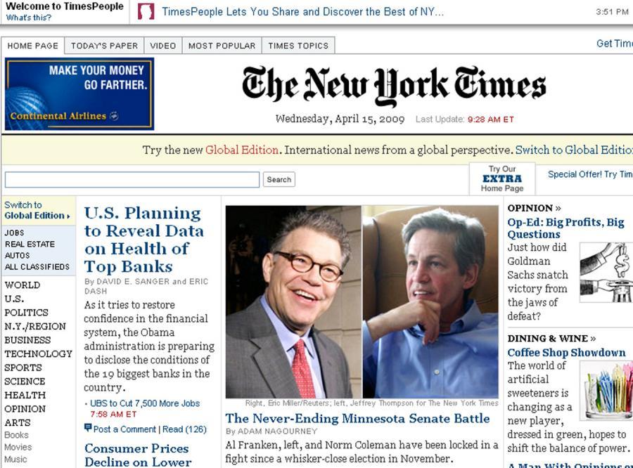 New York Times faworytem Webby Awards