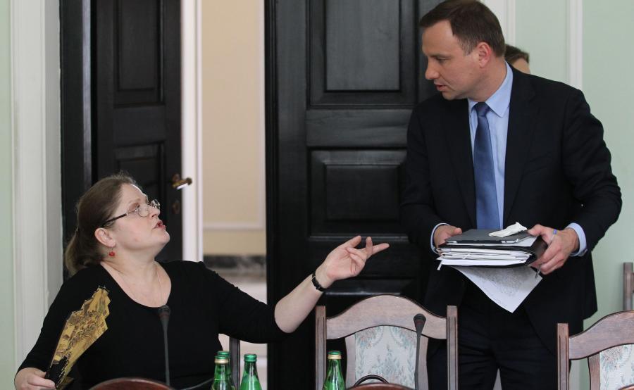 Krystyna Pawłowicz i Andrzej Duda