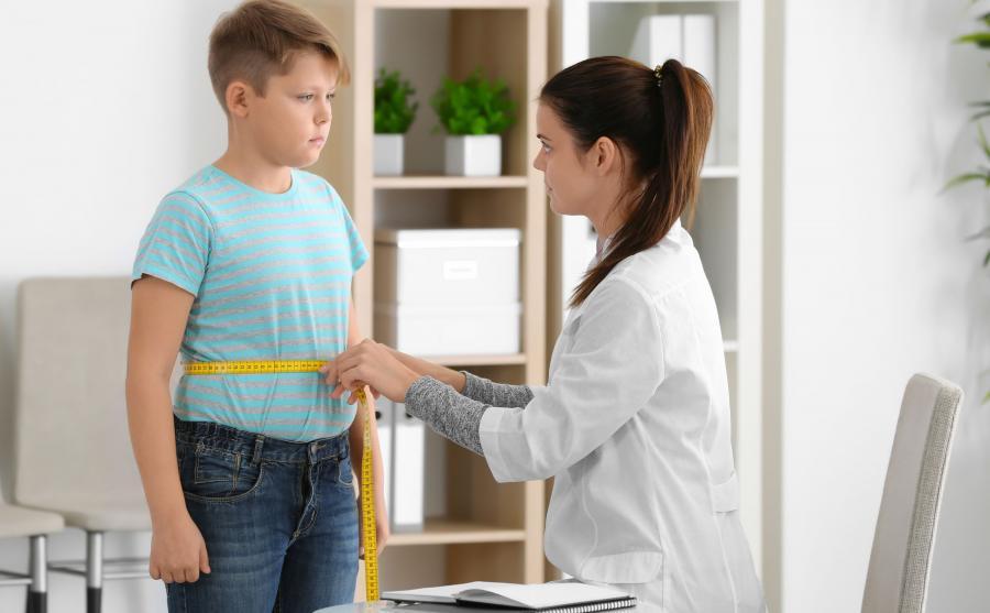 Dziecko z nadwagą u lekarza