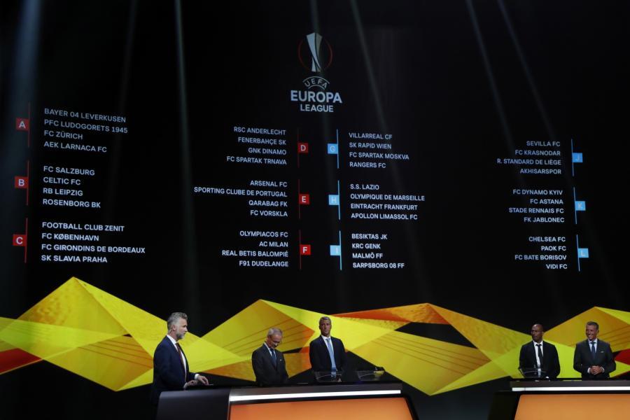 Wyniki losowania fazy grupowej Ligi Europejskiej