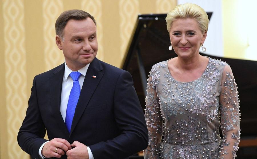 Prezydent Andrzej Duda z małżonką