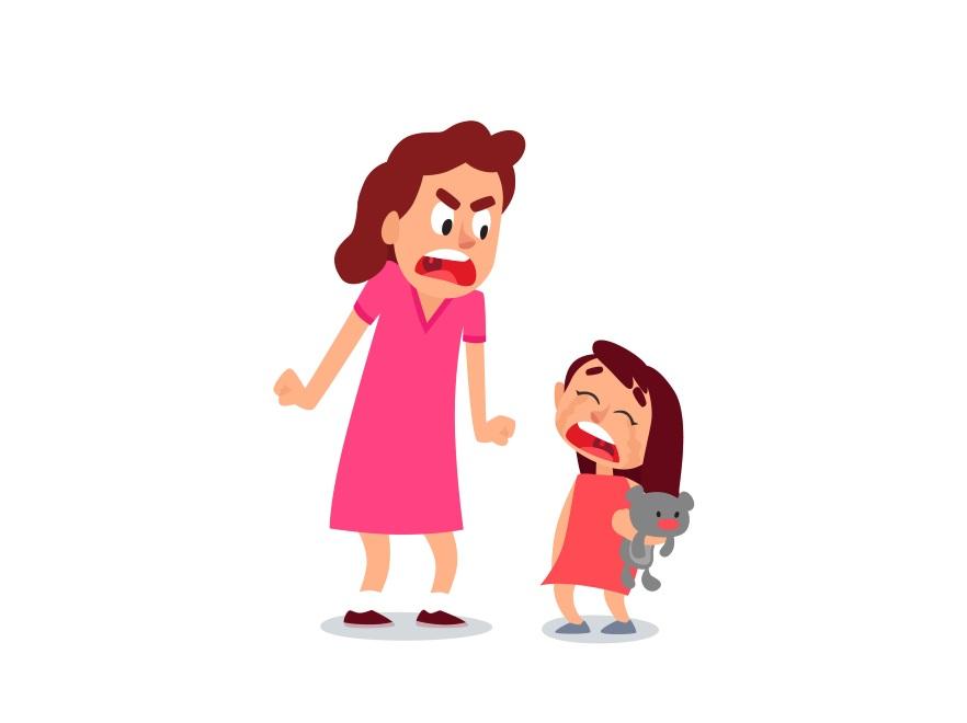 Matka krzyczy na dziecko