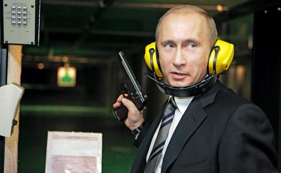 Władimir Putin w nowej siedzibie Głównego Zarządu Wywiadu