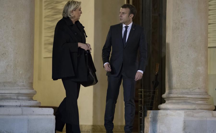 Marine Le Pen i Emmanuel Macron