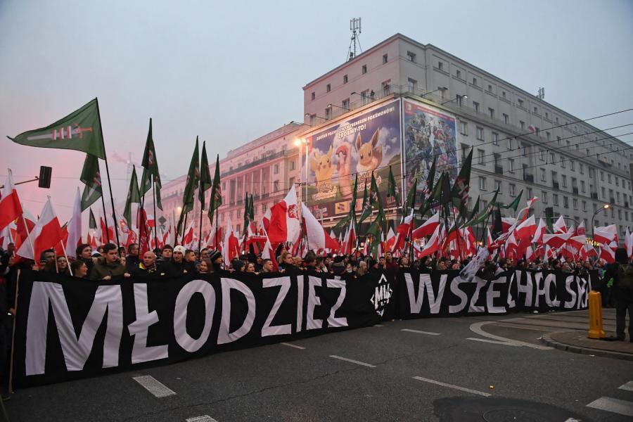 Narodowcy na marszu
