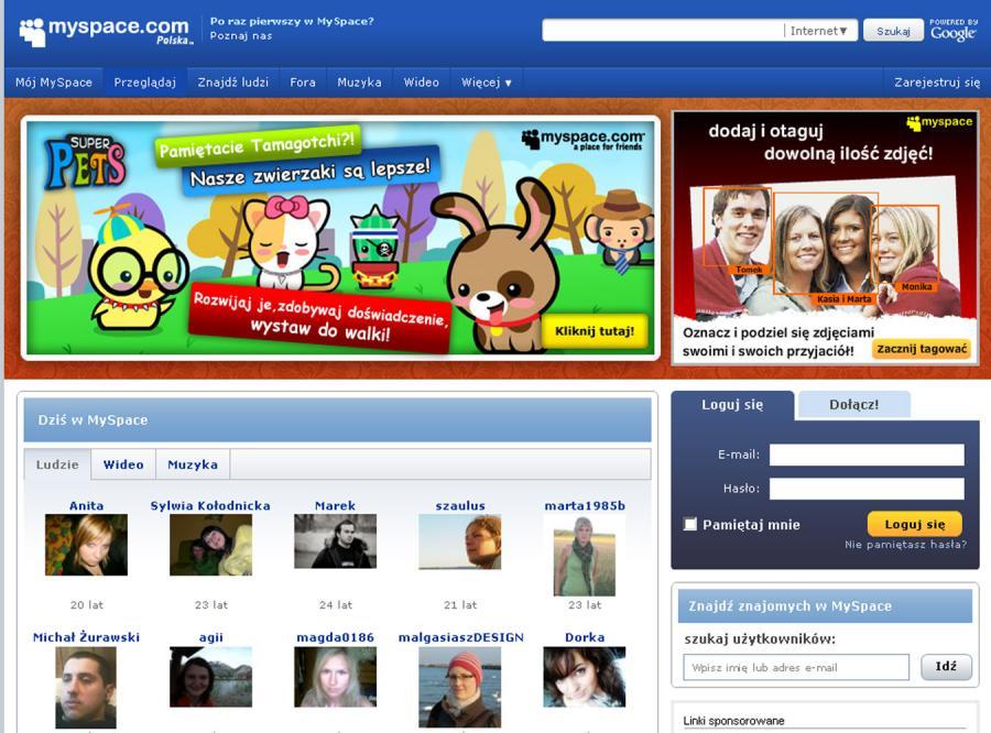 MySpace usunął konta 90 tys. groźnych użytkowników
