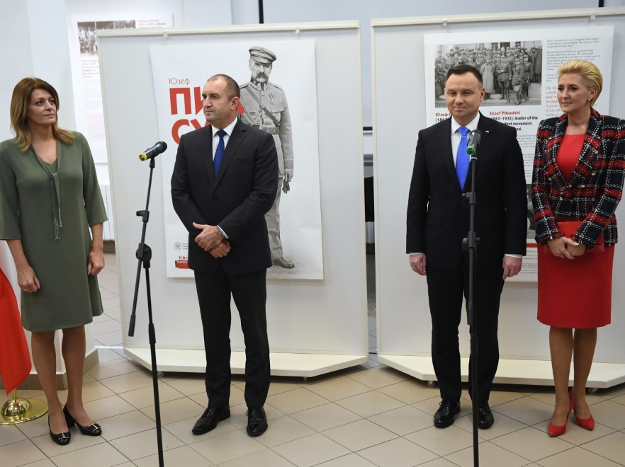 Desislava Radeva i Rumen Radew oraz Andrzej Duda i Agata Kornhauser-Duda;