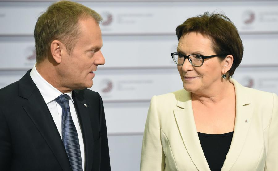 Donald Tusk i Ewa Kopacz