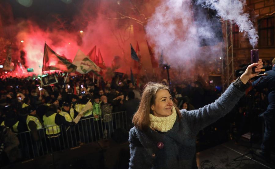 Demonstrancja antyrządowa na Węgrzech