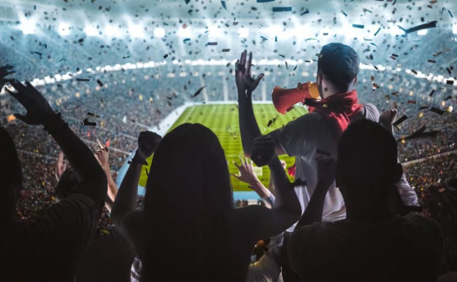 Kibice na stadionie