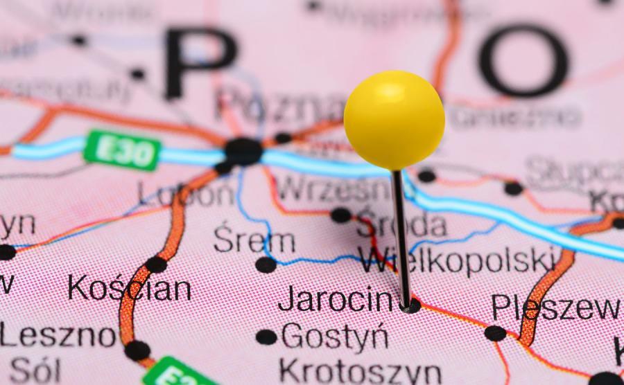 Jarocin na mapie Polski