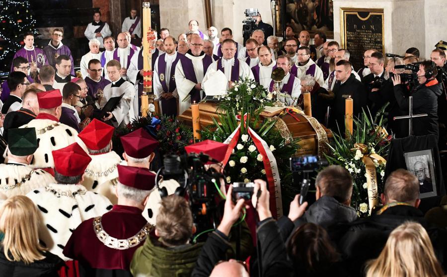 Uroczystości pogrzebowe w Krakowie