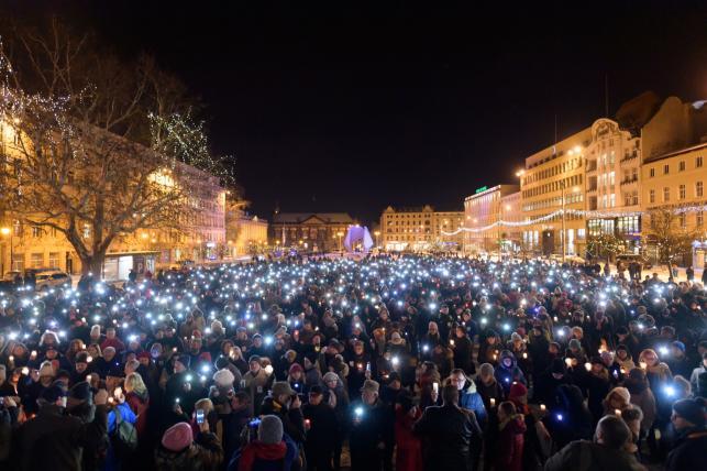 Wiec w Poznaniu