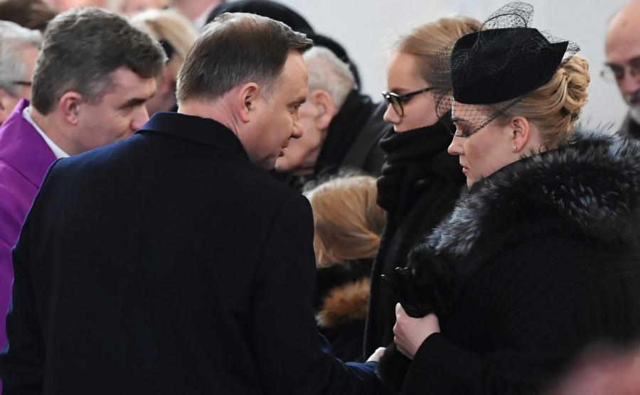 prezydent Andrzej Duda na pogrzebie Pawła Adamowicza