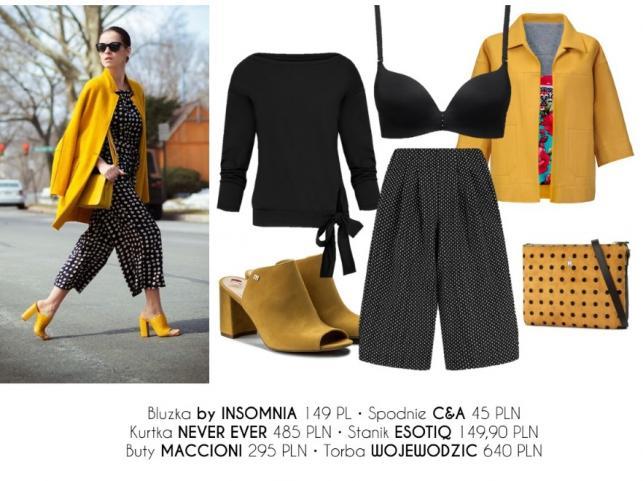 STYLIZACJE z żółtymi ubraniami