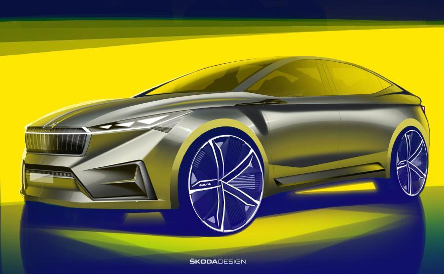 Skoda VISION iV to dynamicznie narysowany pięciodrzwiowy SUV w stylu coupe