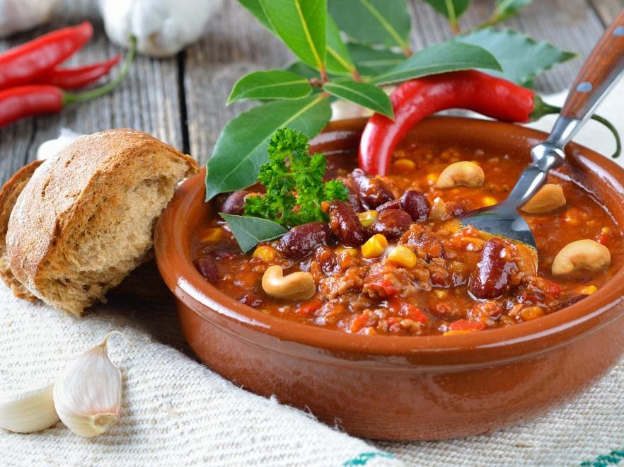 Orzechowe chilli con carne