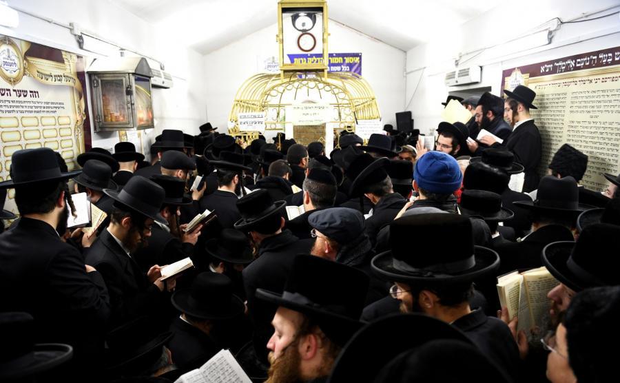 Ortodoksyjni Żydzi w Leżajsku