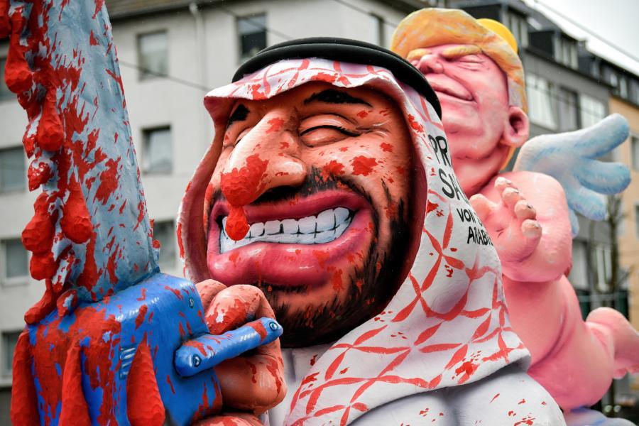 Karykatura księcia Salman z Arabii Saudyjskiej