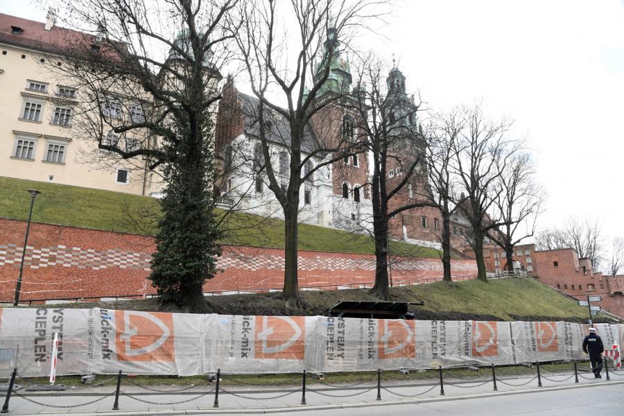 Osunięcie wykopu na Wawelu