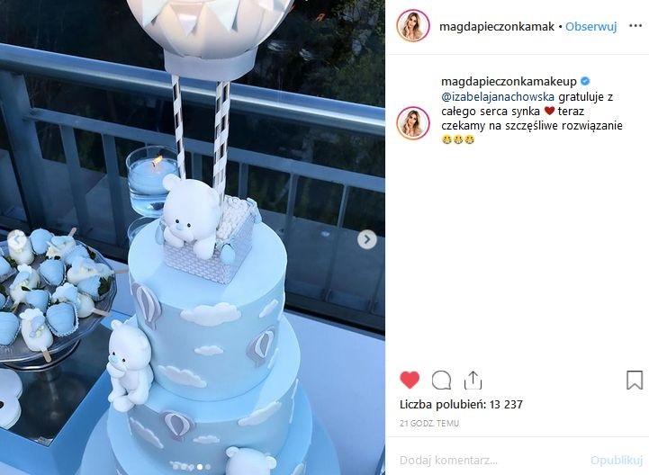 baby shower Izabeli Janachowskiej / Instagram Magdaleny Pieczonki