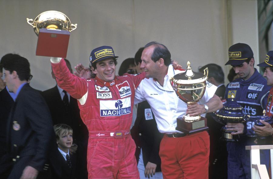 Ayrton Senna (z lewej)