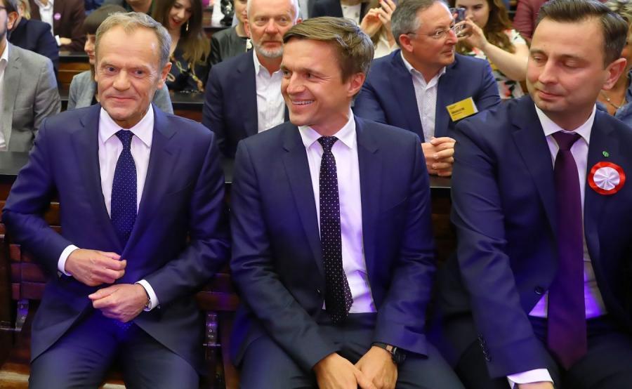 Donald Tusk, Leszek Jażdżewski i Władysław Kosiniak Kamysz