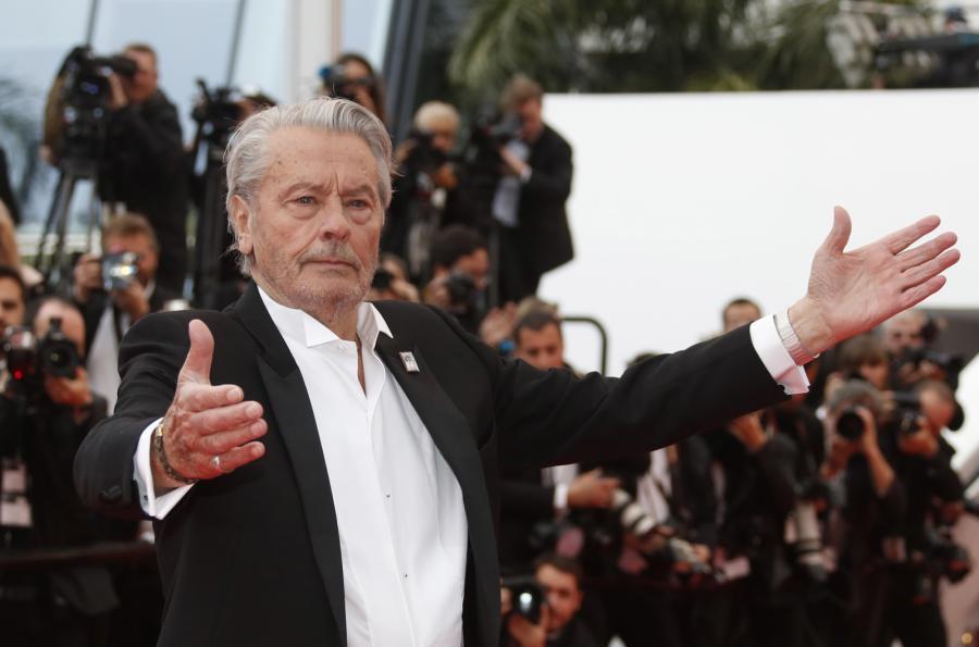 Alain Delon w Cannes, maj 2019 rok