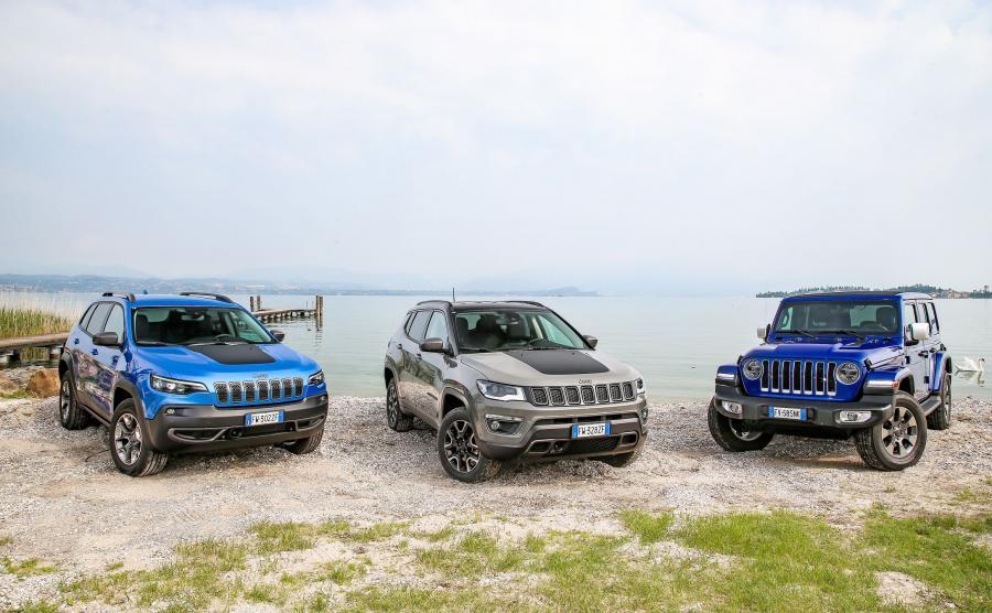 Jeep Cherokee, Compass i Wrangler