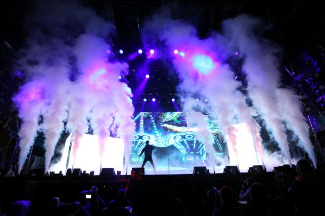 Travis Scott na festiwalu Open'er 2019. 3 czerwca 2019 roku.