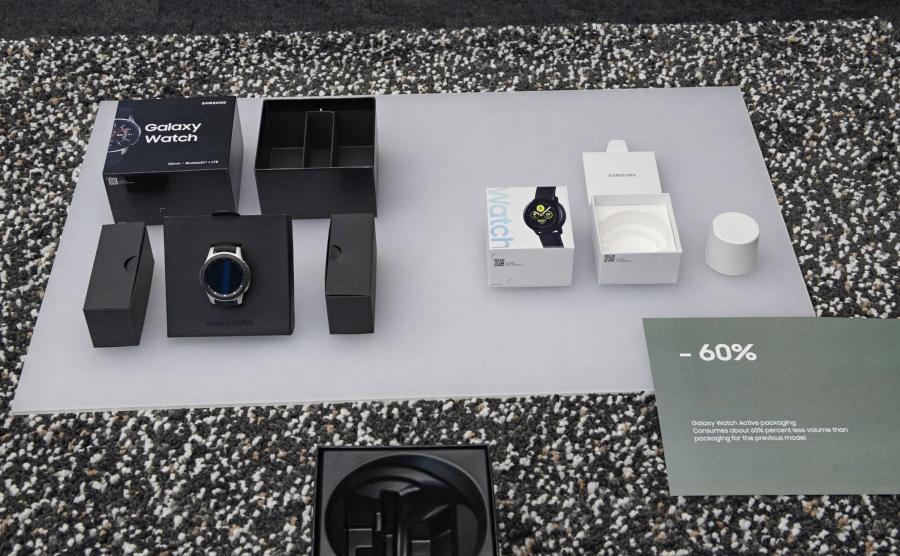 Tak zmniejszają się pudełka, w które pakowane są urządzenia Samsunga