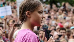 Greta Thunberg na demonstracji w Berlinie