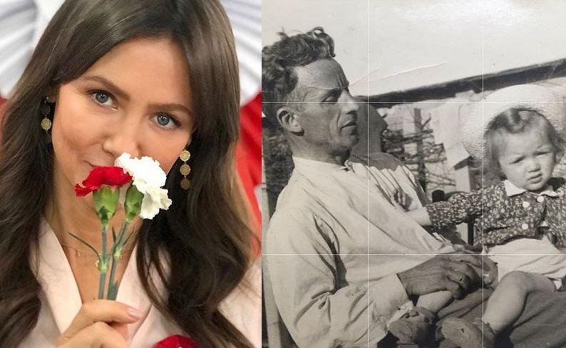 Kinga Rusin, dziadek Kingi Rusin z jej mamą